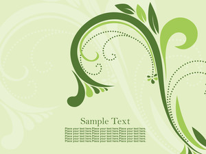 Green Background With Beautiful Floral Pattern