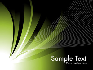 Green Background With Mesh Illustration