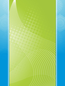 Green Background With Wave Illustration