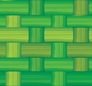 Green Bamboo Mat. Seamless Vector Texture.