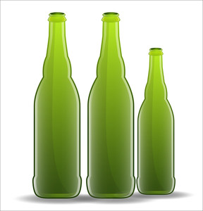Green Beer Bottles Vectors