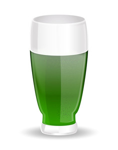 Green Beer Glass Vector