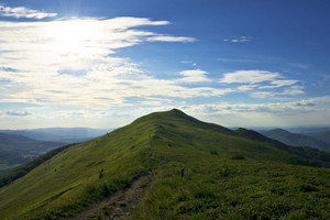 Green Bieszczady Mountains Landscape