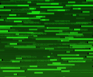 Green Binary Data Texture