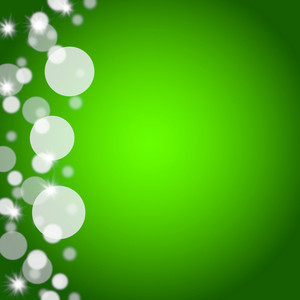 Green Bokeh Background With Blank Copy Space