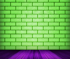 Green Brick Room Backdrop