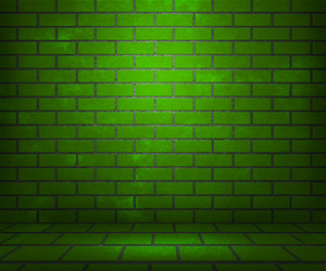 Green Brick Stage Background