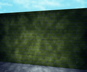 Green Brick Wall Background