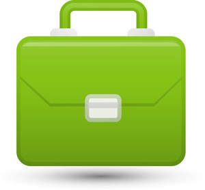 Green Briefcase Lite Communication Icon