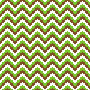 Green, Brown, And White Chevron Minecraft Pattern