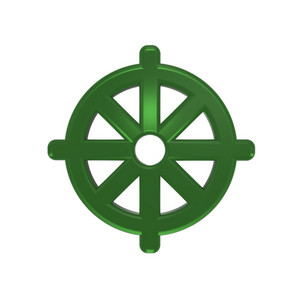 Green Buddhism Symbol.