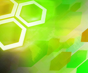 Green Business Background Hexagon