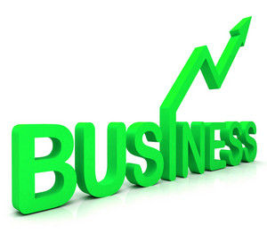 Green Business Word Shows Commerce