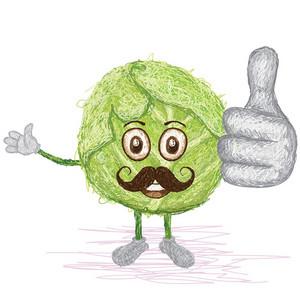 Green Cabbage Mustache