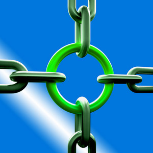 Green Chain Link Shows Strength Security