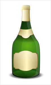 Green Champaign Bottle