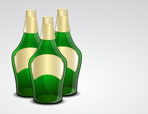 Green Champaign Bottles