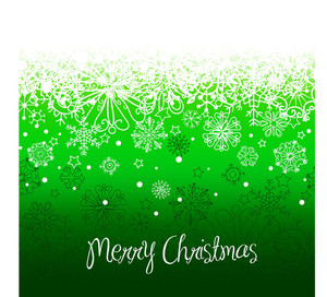 Green Christmas Background With Space For Text.
