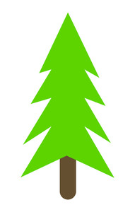 Green Christmas Tree Shape Design