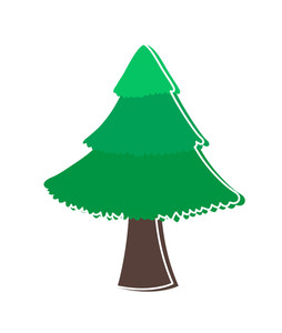 Green Christmas Tree Shape