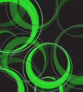 Green Circles Vector Background
