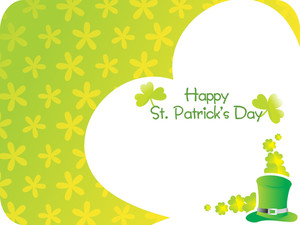 Green Color Shamrock Background 17 March
