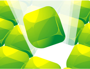 Green Cubes. Vector.