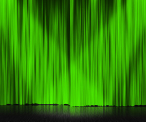 Green Curtain Stage Background