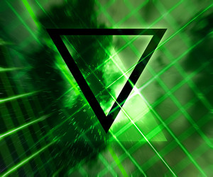 Green Daft Punk Abstract Background