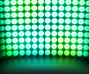 Green Dance Disco Lights Stage Background