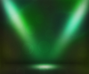 Green Dark Spotlights Room