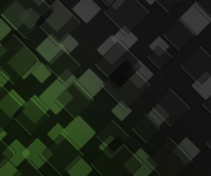 Green Dark Squares Background