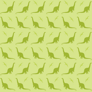 Green Dinosaur Pattern