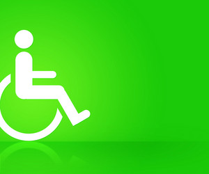 Green Disability Background