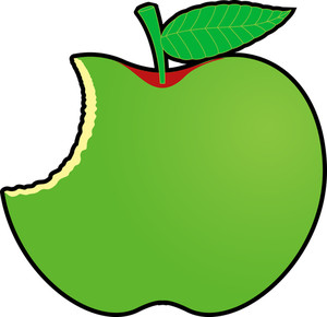 Green Eaten Apple Design