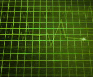 Green Ekg Medical Background