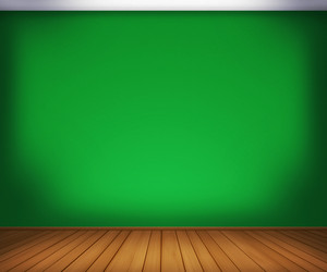 Green Empty Room Background