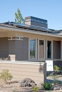 Green Energy Home With Solar Panels