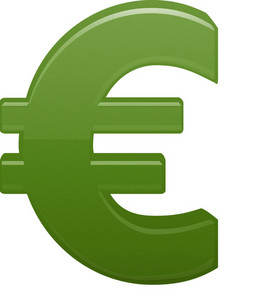 Green Euro Currency Symbol