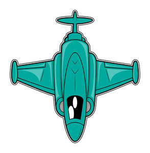 Green Fighter Plane