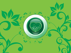 Green Floral Background Illustration