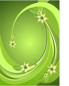 Green Floral Deco