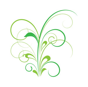 Green Floral Design Art