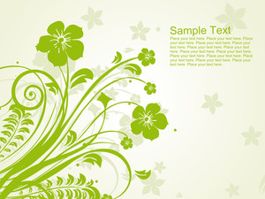 Green Floral Pattern Illustration