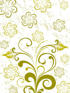 Green Floral Texture Background