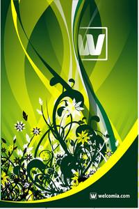 Green Floral Vector