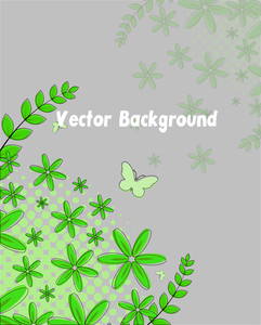Green Flourish Background