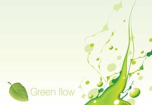 Green Flow. Vector.