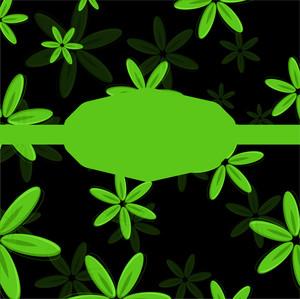 Green Flowers Banner