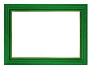 Green Frame Isolated On White Background.